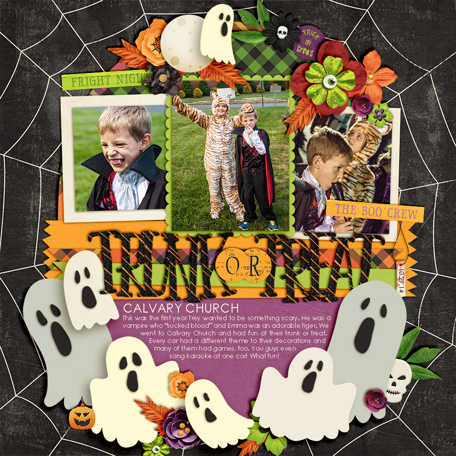 Digital Scrapbooking Blog - Trunk or Treat Calvary Church